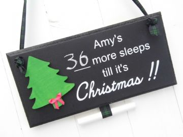 Christmas Countdown Sign - Christmas Tree